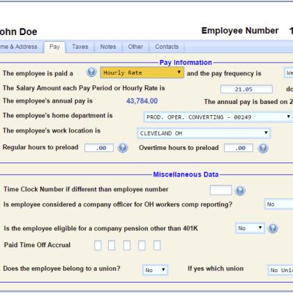 Employee Master Data